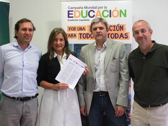 Plan Internacional se suma a la coalición española de la Campaña Mundial por la Educación